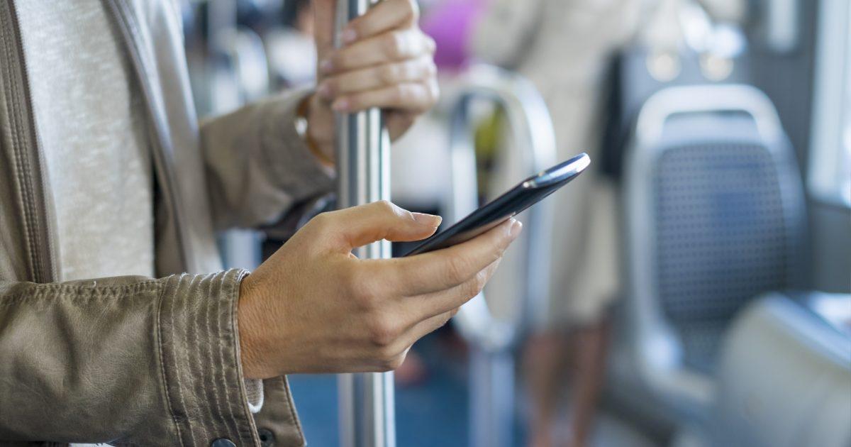 Smartphone i kollektivtrafiken