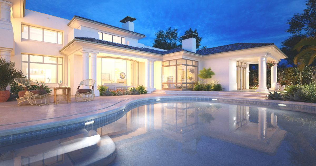 Lycka skapad av ett fint hus